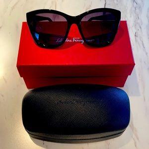 Salvatore Ferragamo 56mm Square Cateye Sunglasses